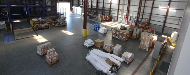 Ample Warehouse Staging Area for Customs